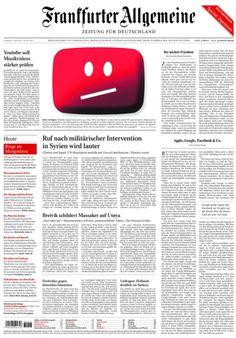 Nicht verfügbar #YouTube http://www.faz.net/aktuell/wirtschaft/urheberrecht-im-netz-youtube-muss-musikvideos-staerker-filtern-11724355.html