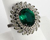 Green with envy! Ecochic team treasury by PaganCellarJewelry featuring our Green Rhinestone ring!  Double click through to see all the beautiful green items!