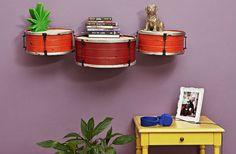 Drum shelves