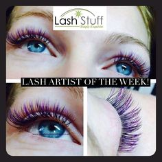 This weeks Lash Artist is Amy Dommett with Aurora Lashes and Brows in Cullompton Devon England. In Amy's lash pic she applied a full set of colored Faux Mink black and purple eyelash extensions C-curl with 9mm-12mm lengths. Want to be the Lash Artist of the week? Submit a pic of your work at Lashpics@LashStuff.com . If your work is selected you will receive a $50 gift coupon code for Lash Stuff. #eyelashextention #lashes #lashartist #lashextensions #volumelashes #lashstuff #beauty…