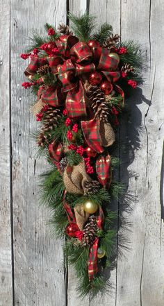Christmas Swag Holiday Swag Christmas Wreath by KathysWreathShop