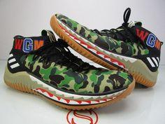 ec2256d20bb679 adidas Bape X Dame 4 Green Camo Size 11 Damian Lillard a Bathing Ape for  sale online