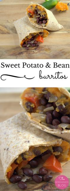 Sweet Potato & Bean Burritos- packed with veggies and protein, these ...