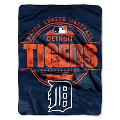 Detroit Tigers MLB Micro Raschel Blanket (Structure Series) (46in x 60in)