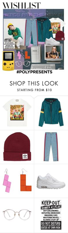 """""""#PolyPresents: Wish List"""" by jgaonay ❤ liked on Polyvore featuring Gucci, Zella, StyleNanda, adidas, Être Cécile, Any Old Iron, NIKE, contestentry and polyPresents"""