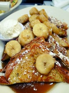 Banana Foster French Toast at Brenda's Soul Food
