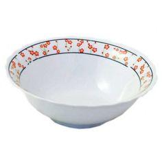Miska 18cm porcelán. Univerzálna porcelánová miska so vzorom červených kvetiniek. Priemer 18cm