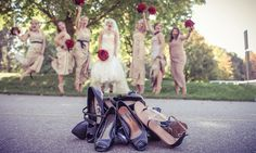 Bridesmaids and their shoes   Stunning vintage wedding photography by www.newvintagemedia.ca