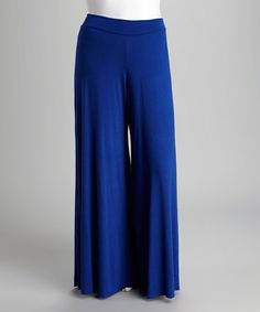 Loving this Royal Blue Palazzo Pants - Plus on #zulily! #zulilyfinds
