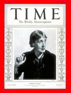 Virginia Woolf on the cover of Time Magazine circa April 12, 1937