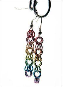 Simple Rainbow Chain Earrings