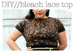bleach lace shirt, must see up close. Cute blog. Amazing must try this ASAP. Tutorial