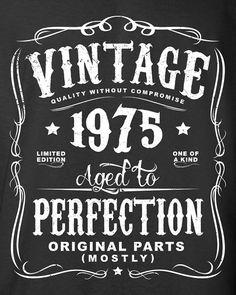 40th Birthday Gift For Men and Women Vintage by SHIRTSnGIGGLES
