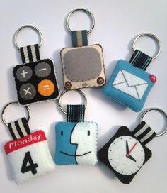 iPhone icon felt Keychains