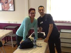 International students from left to right Liene (Latvia) and Karim (France) Gym Instructor & Personal trainer programme.