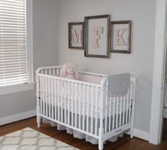 Madelyn's rustic vintage nursery with sweet DaVinci Jenny Lind Crib