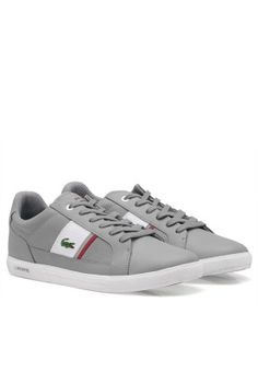 Lacoste Grey Europa Sneakers for Men in Dubai, Abu Dhabi, UAE - ✓ Free Next Day Delivery ✓ Exchange, ✓ Cash On Delivery - In Dubai, Abu Dhabi, Lacoste, Dubai Shopping, Comfortable Shoes, Men's Shoes, Sneakers, Stuff To Buy, Comfy Shoes