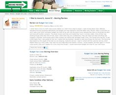 Great #review for Budget Van Lines on My Moving Reviews