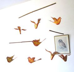 Mobile, Baby Mobile - Bird Mobile - Handmade - hanging mobile for babies and children - cr... $35 Bird Mobile, Mobile Baby, Hanging Mobile, Babies, Children, Handmade, Toddlers, Hand Made, Babys