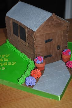Garden Shed Cake Farm Birthday, Birthday Cake, Fab Cakes, Great British Bake Off, Cake Ideas, Gingerbread, Projects To Try, Shed, Garden