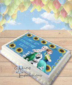 Frozen Fever Edible Image Cake Topper Sunflowers [SHEET]