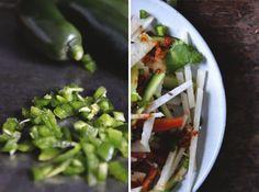 Vegan Jicama Salad // With a Tangy Citrus Dressing  http://chayvert.com/2014/10/06/vegan-jicama-salad-with-a-tangy-citrus-dressing/