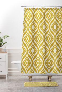 KESS InHouse Oriana Cordero Slice of Summer White Yellow Shower ...