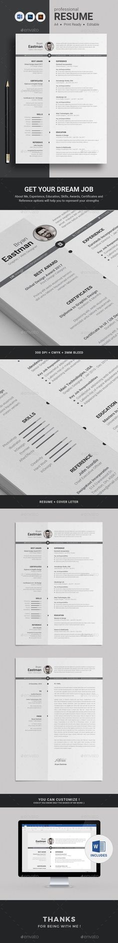 Modern and Super Clean Resume with strong typographic structure is very easy to use and customize. This minimal resume is very wel College Resume Template, Best Resume Template, Resume Design Template, Cv Template, Print Templates, Unique Resume, Simple Resume, Modern Resume, Resume Cv