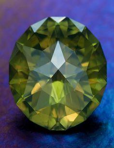 Jermaine Jackson Oval in Sri Lanka Green Zircon • 10.3 carats • Fine Art Gemstones by Jeffrey Hunt •