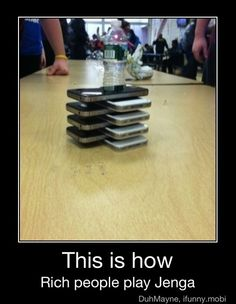This is how rich people play jenga Wtf Funny, Funny Memes, Hilarious, Rich People, Have A Laugh, Jenga, Story Of My Life, Just For Laughs, Make You Smile