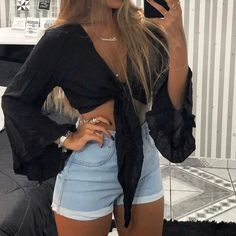 Cute Summer Outfits, Cute Casual Outfits, Short Outfits, Pretty Outfits, Stylish Outfits, White Girl Outfits, Cute Party Outfits, Outfit Summer, Teenage Outfits
