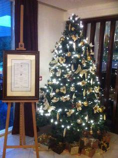 The tree at Cedars Restaurant Cedars Restaurant, Christmas Tree, Holiday Decor, Home Decor, Teal Christmas Tree, Decoration Home, Room Decor, Xmas Trees, Christmas Trees