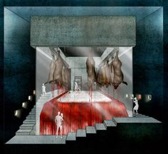 """The Public Abattoir - an Atrocity Exhibition by Tseng Lau """"My project is not against meat production, but it is for responsible and humane meat eating,"""""""