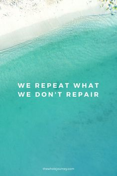 We repeat scenarios we have never healed from. Love yourself enough to take the time to work on breaking the cycle of replaying the negative behaviors and start playing the positive ones.