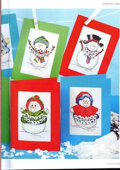 Gallery.ru / Фото #2 - 4 - mikolamazur; snowmen to make into cards or ornaments