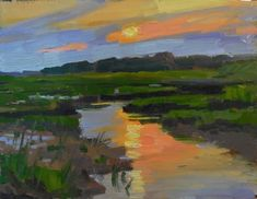 """Daily+Paintworks+-+""""Save+the+Bay+closing+reception""""+-+Original+Fine+Art+for+Sale+-+©+Kathy+Weber"""
