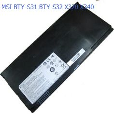4 cells 2150mAh and 4400mAh two optional laptop battery for MSI BTY-S31 MSI X320/X340 - 13 inch X-Slim series MS-1351 MS-1352 BTY-S32