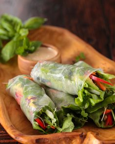 Vietnamese Spring Rolls with Orange-Almond Sauce (recipe + video) | Steamy Kitchen