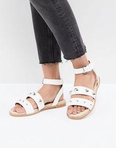 e3e1531eb0d RAID Sally White Studded Sandals at asos.com