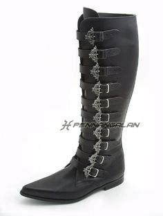 while on the topic of shoes, here are some gothic-western bat-buckle boots