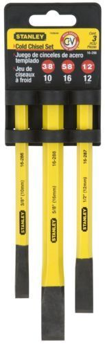 Stanley Hand Tools 16-298 3 Piece Cold Chisel Set #Home #Garden #Tools #16-298