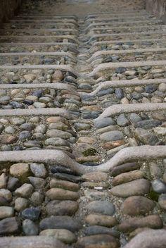 Centro storico di Saluzzo, walkway/driveway drainage solution idea.