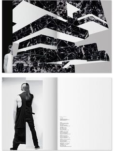 split images - even splitting in color and BW Lookbook Layout, Two Men, Rick Owens, Two By Two, Fashion Design, Color, Colour, Colors