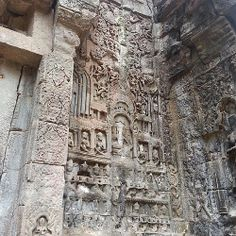 The relief on the left side of the Angkor Thom's entrance