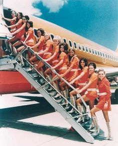 SWA flight attendants back in the day