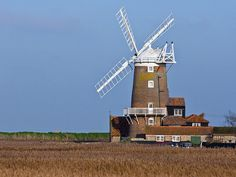 An eighteenth century windmill, now a guest house at Cley-Next-The-Sea, Norfolk, UK.