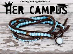 Her Campus DIY article on how to make these gorgeous beaded bracelets! LOVE.    http://www.hercampus.com/school/northeastern/diy-wrap-bracelets