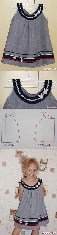 Ещё одно летнее платьице... на посошок - Выкройки детской одежды - Страна Мам