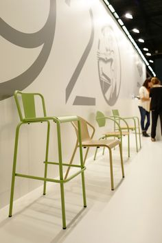 See the latest from leading Brands, Architects, Designers and Art Directors Stand Design, Chair Design, Architects, Designers, Chairs, Colours, Furniture, Home Decor, Art