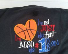 Basketball Fan Shirt - Basketball Aunt - Basketball Shirt - Basketball Gift  - Game Day Shirt - Basketball Sayings - Sports Apparel by fabuellaboutique. Explore more products on http://fabuellaboutique.etsy.com